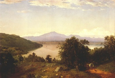 kensett camels hump from the western shore of lake champlain