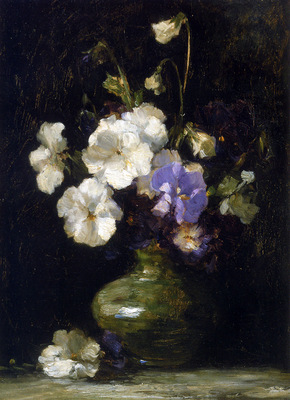 Kever Jacob Pansies in a vase Sun