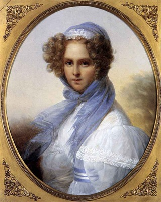 KINSOEN Francois Joseph Presumed Portrait Of Miss Kinsoen