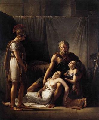 KINSOEN Francois Joseph The Death Of Belisarius Wife