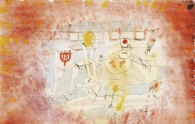 Klee Bad orchestra, 1920, Watercolor on paper, Barnes founda