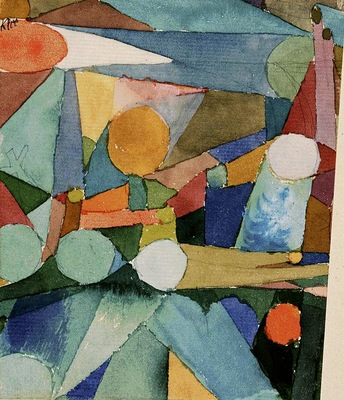 Klee Color shapes, 1914, Watercolor on paper, Barnes foundat