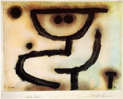 Klee Embrace, 1939, Paste colour, watercolour and oil on pap
