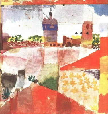Klee Hammamet with mosque, 1914, Collection Heinz Bergguen,
