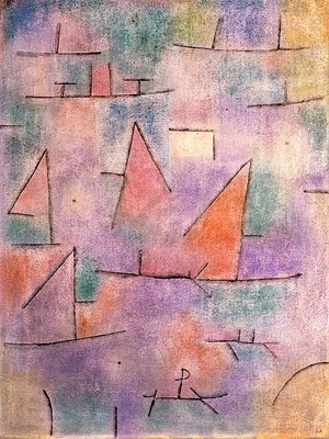 Klee Harbor with Sailboats, 1937, oil on canvas, Musee Natio