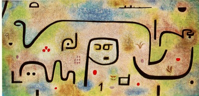 Klee Insula Dulcamara, 1938, Oil on newsprint, mounted on bu