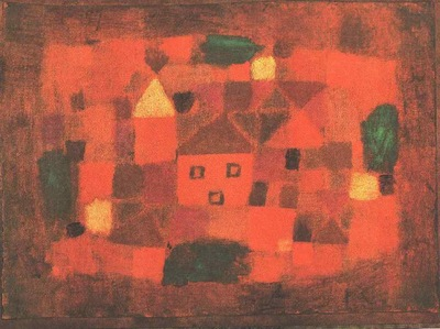 Klee Landscape at sunset, 1923, Marlborough Gallery, London