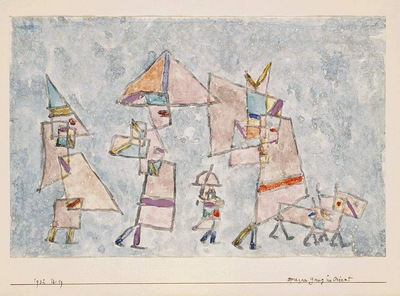 Klee Promenade in the Orient, 1932, Watercolor on paper, Bar