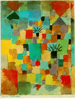 Klee Southern Tunisian gardens, 1919, Watercolour, Collect