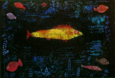 Klee The goldfish, 1925, Oil and watercolor on paper, mounte