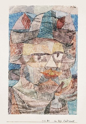 Klee The last of the mercenaries, 1931, Watercolor on paper,