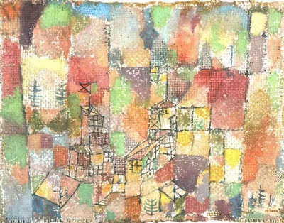 Klee Two country houses, 1918, Collection Dr  Charlotte Weid