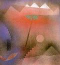 Klee Bird Wandering Off, 1926, gouache on canvas paper mount