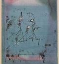 Klee Die Zwitschermaschine Twittering machine , 1922, Water