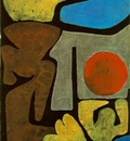 Klee Park of idols, 1939, Watercolor on blackened paper, Col