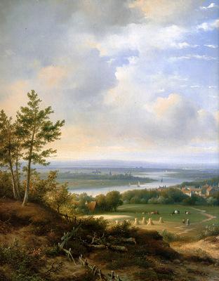Kleijn Lodewijk Panoramic landscape[detail] Sun