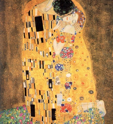 Klimt, Gustav The Kiss detail end