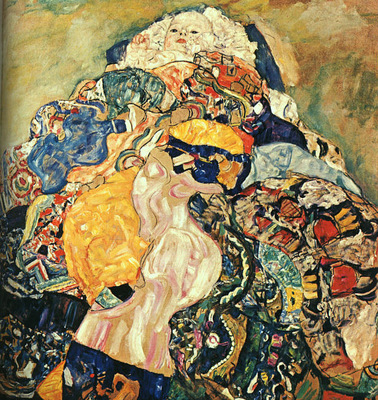Klimt Baby, 1917 18, unfinished, oil on canvas, private coll