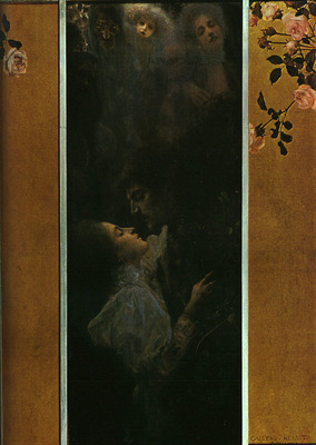 Klimt Love, 1895, 60x44 cm, oil on canvas, Historisches Muse