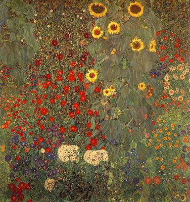 lrs Klimt Garden With Sunflowers1905