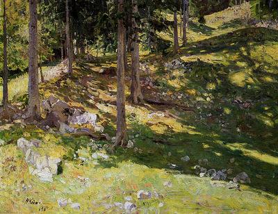 Klodt von Jurgensburg Nikolai Forest illuminated Sun