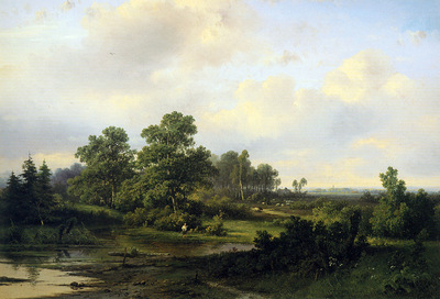 Kluyver Pieter Lodewijk Fisher at a river Sun
