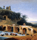 Knip Augustus Landscape with a ruin on a hill Sun