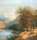 Knip Henri Mountainous landscape Sun