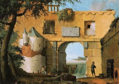 Knip Josephus Ruin in Italian landscape Sun