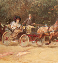 Koch Ludwig Mrs Sachers Carriage In The Hauptallee Of The Prater Vienna