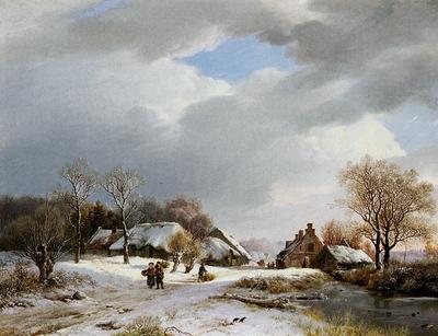 Koekkoek Barend C Winerlandscape at the Neder Rijn Sun