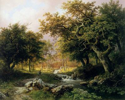 koekkoek barend cornelis forest landscape sun