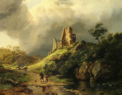 Koekkoek Barend Cornelis THE APPROACHING STORM