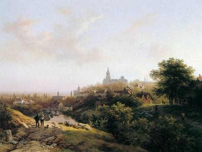 Koekkoek Barend Cornelis View of Kleves Sun