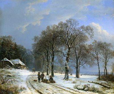 Koekkoek Barend Cornelis Winterlandscape Sun