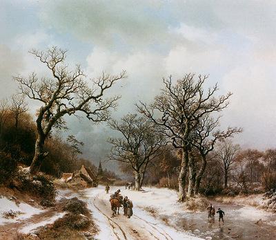 Koekkoek Barend Winterlandscape 1 Sun