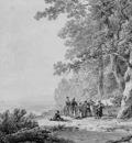 Koekkoek Barend C Landscape with soldiers