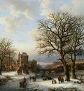 Koekkoek Barend C Winterlandscape Sun