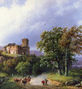 Koekkoek Barend Cornelis Dutch 1803 to 1862 The Ruined Castle SND 1857 O P 34 6 by 47 6 cm