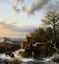 Koekkoek Barend Winterlandscap with ruin L