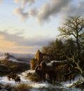 Koekkoek Barend Winterlandscap with ruin L