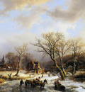Koekkoek Barend Winterlandscape Sun