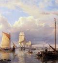 Koekkoek Hermanus Ships on the Schelde near Antwerpen Sun