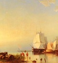 Koekkoek Hermanus Three Mast Ships At Anchor