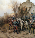 Koekkoek Hermanus Willem French occupy a village Sun