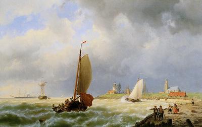 Koekkoek Jan H Ships for the coast