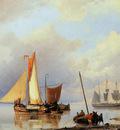 Koekkoek Jan H Ships for the coast Sun