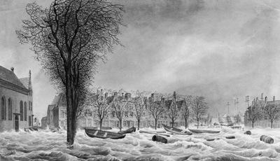 Koekkoek Johannes H Flooding Vlissingen 1808 Sun