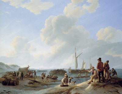 Koekkoek Johannes Hermanus The Scheldes mouth Sun