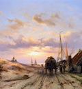 Koekkoek Johannes Fisherwomen at a house in dunes Sun